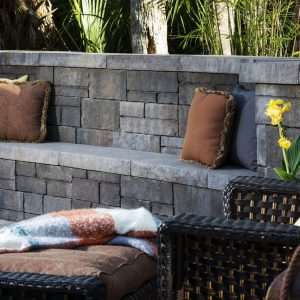 Retaining Walls with Built-in Seats
